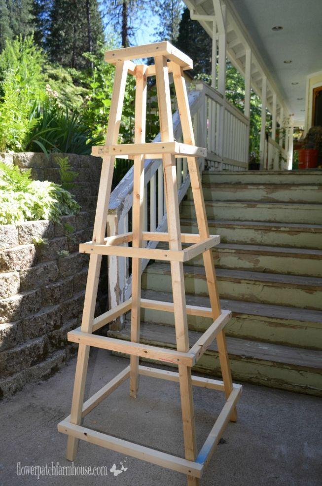DIY Easy Garden Obelisk Easy garden