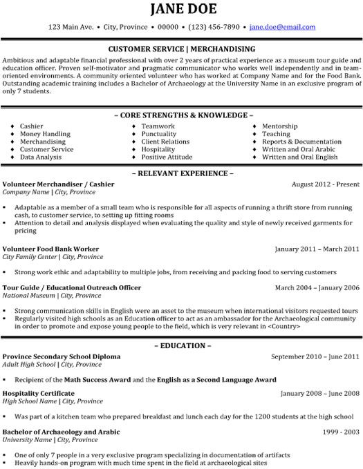 resume examples customer service template 2016 resumes free