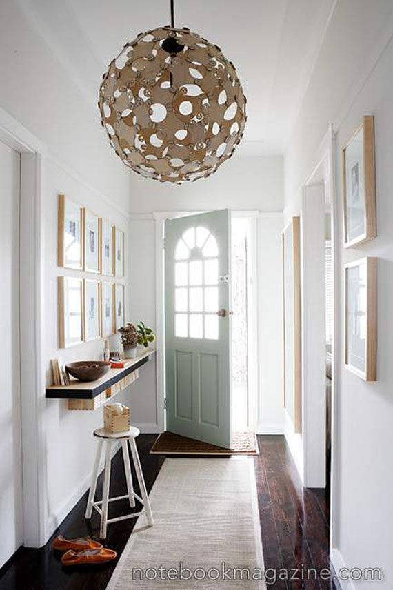 Like The Light Fixture Floating Console Table For Narrow Entryway Long Carpet Runner Helps Direct Eye As Well