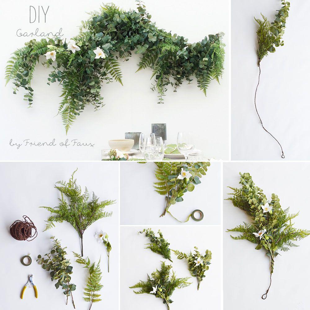 DIY Garland Diy garland, Simple diy and Silk flowers