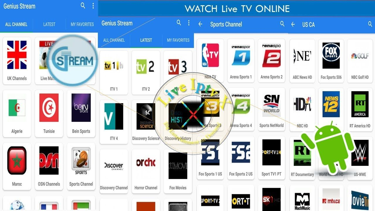 On Android Watch Live TV Online Country Wise TV channels