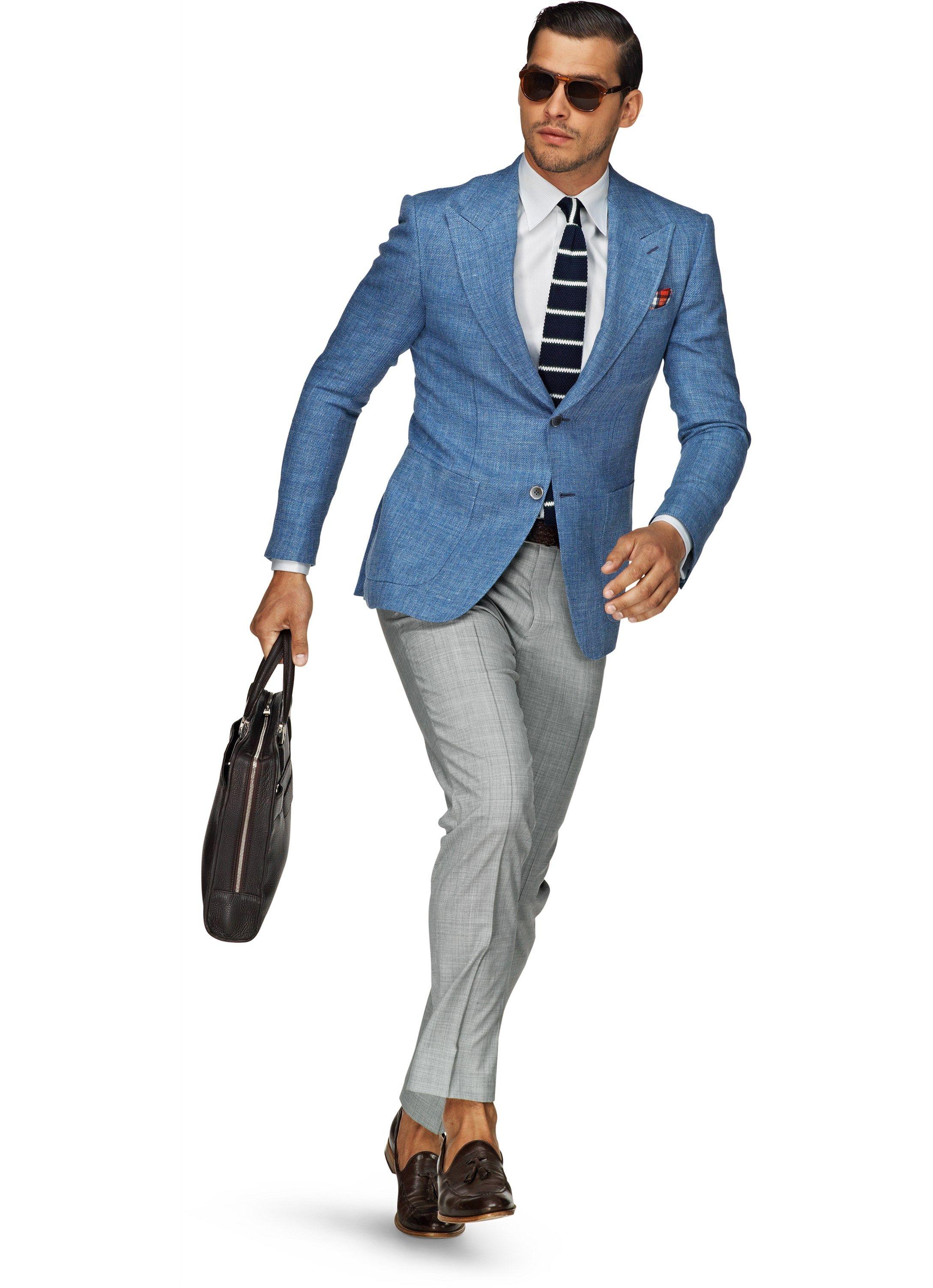 Suit Supply Washington Light Blue Plain 40R Things to