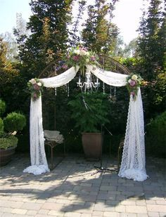Wedding Arch Indoor With Candle Chandelier Google Search