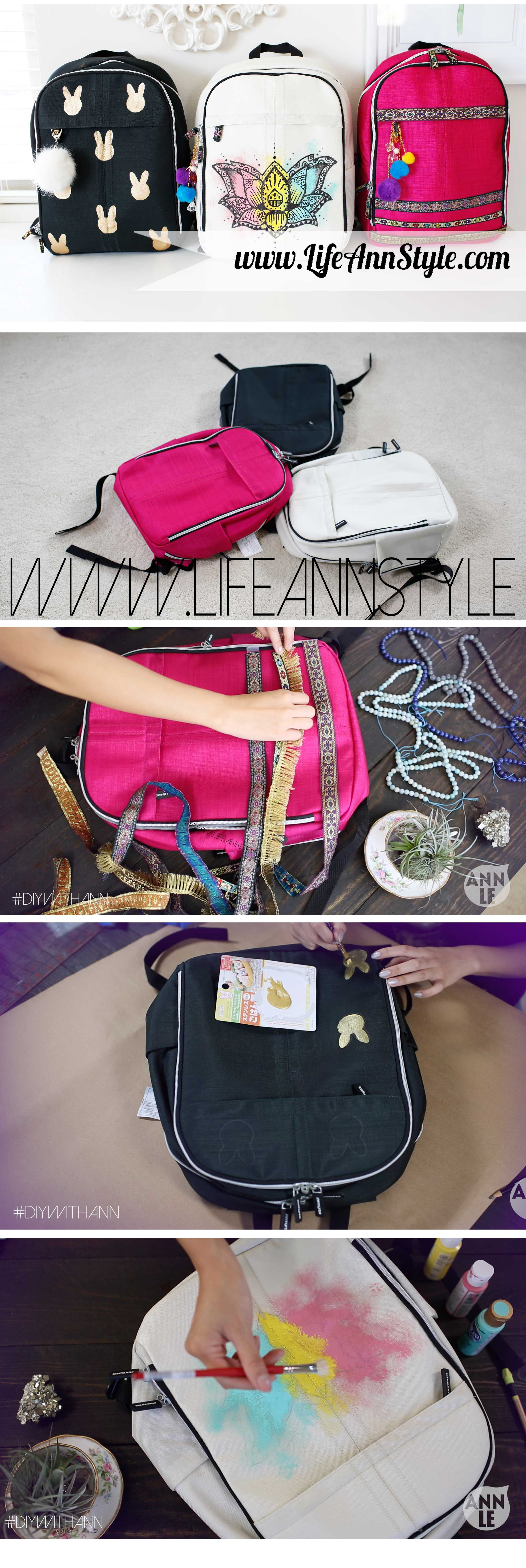 DIY How to Make Backpack designs!! lifestyle BACK TO