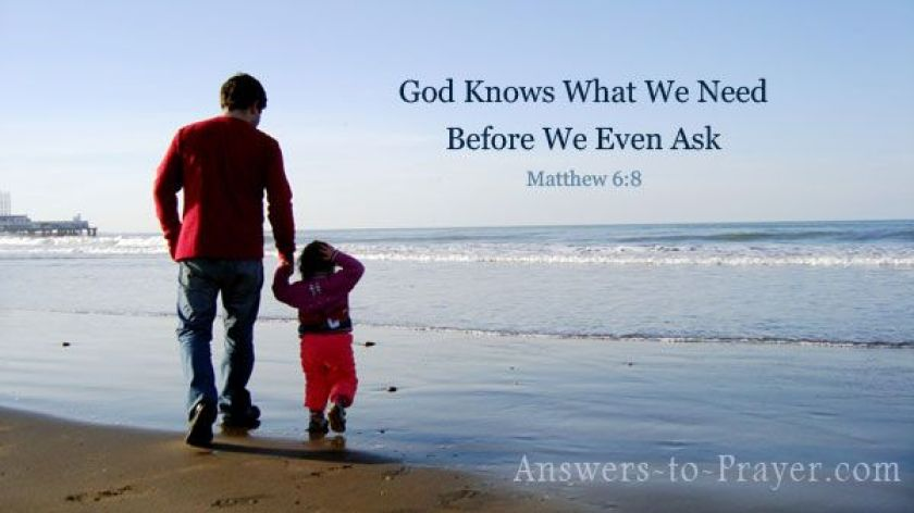 Image result for matthew 6:8