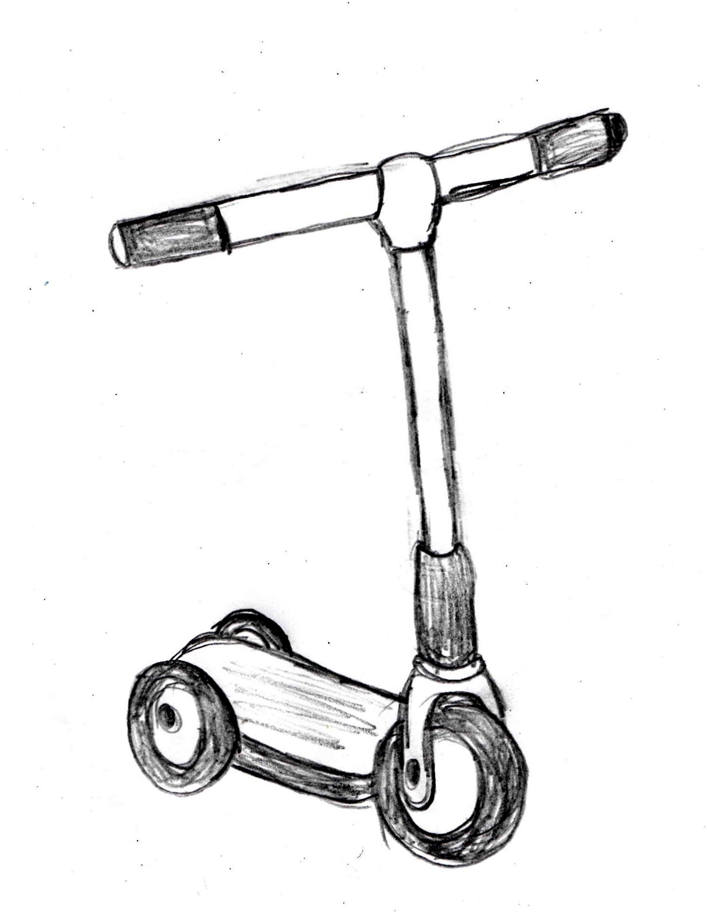 Kick Scooter Drawing Tutorial Drawingmanuals