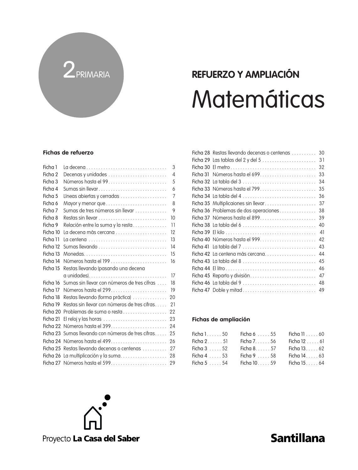 Refuerzo Y Ampliacion De Matematicas 2o De Primaria