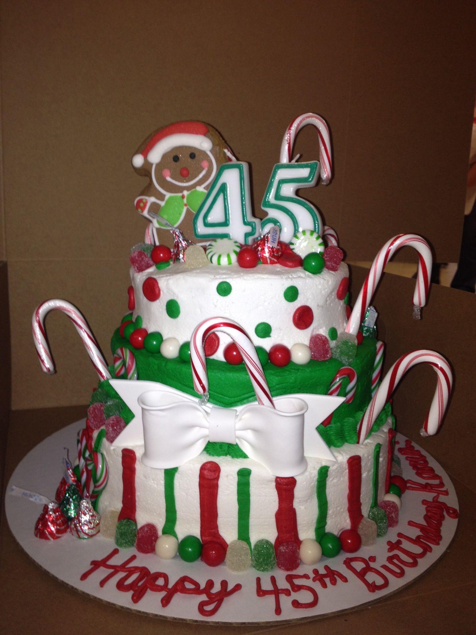 Christmas themed birthday cake. Do Dah's Donuts
