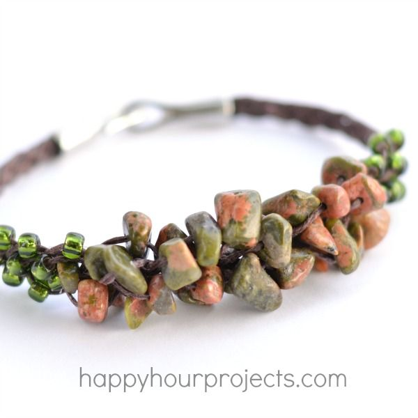 Woven Cluster Bracelet With Stone Chip Beads Craftiness