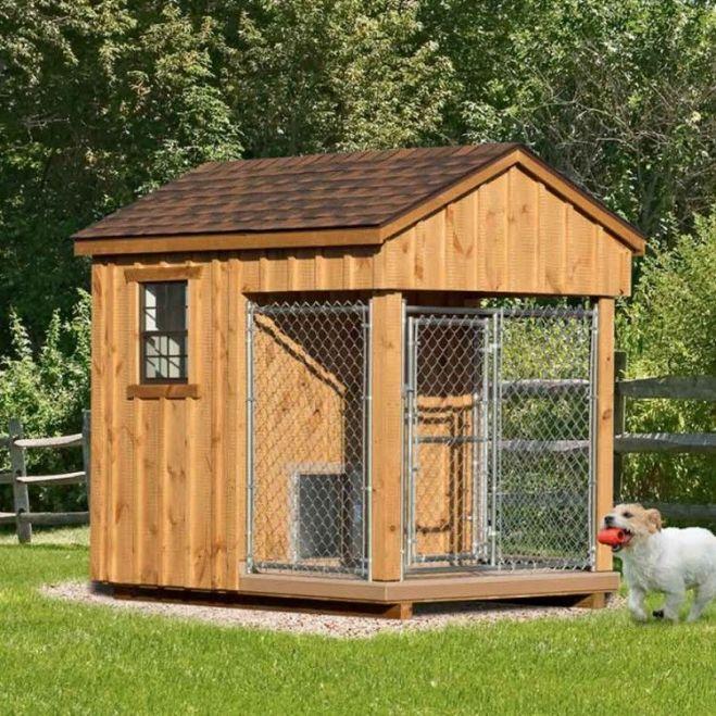 6 x 8 ft amish made dog kennel amish dog kennels