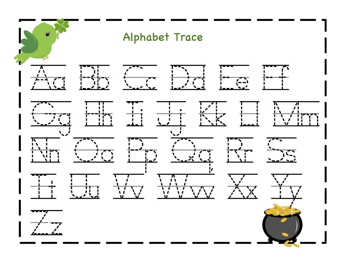Kindergarten Alphabet Worksheets Printable