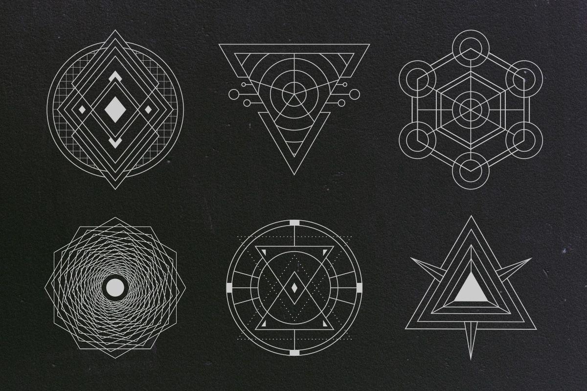 24 Sacred Geometry Vectors Geometry and Tattoo