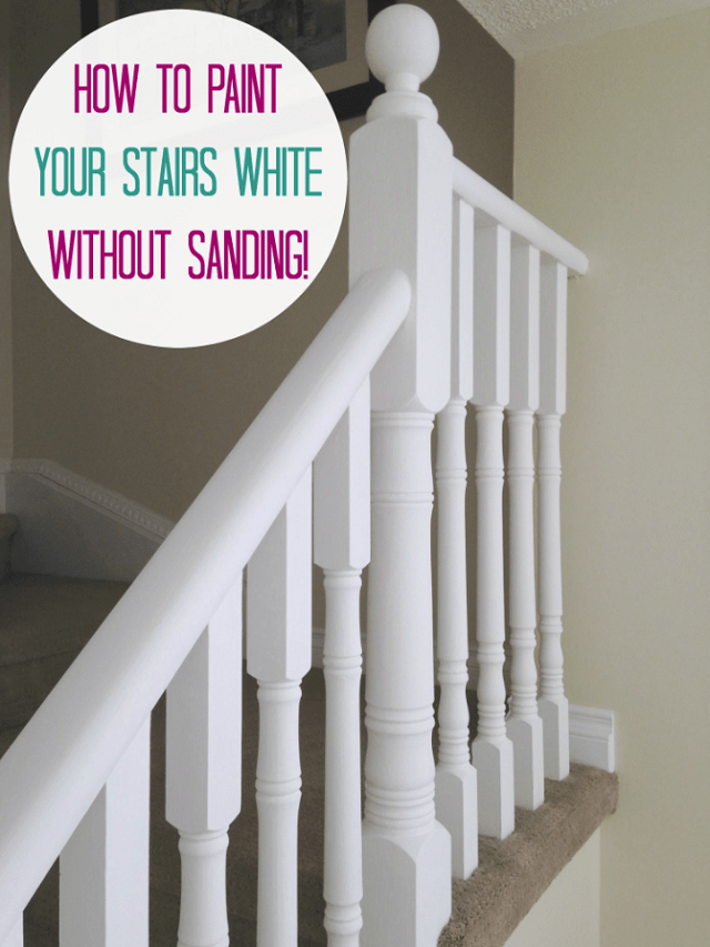 June 2015 Before And After Oak Stairs Chalk Paint And