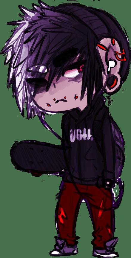 Emo guy chibi anime EmoSceneLove Pinterest Character