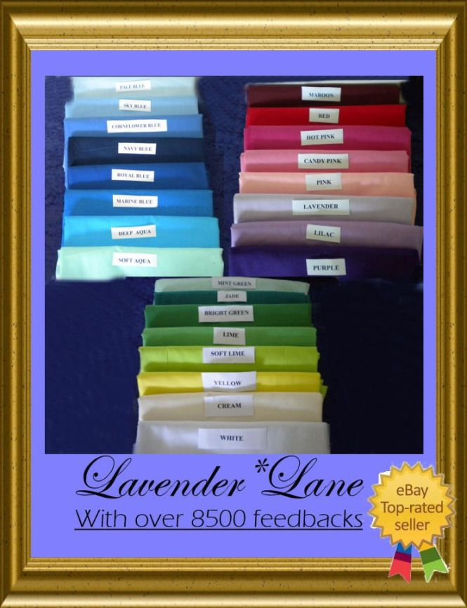 Details About Ed Cot Sheets New 12 Each Made To Measure 20 Colours 4 Postage