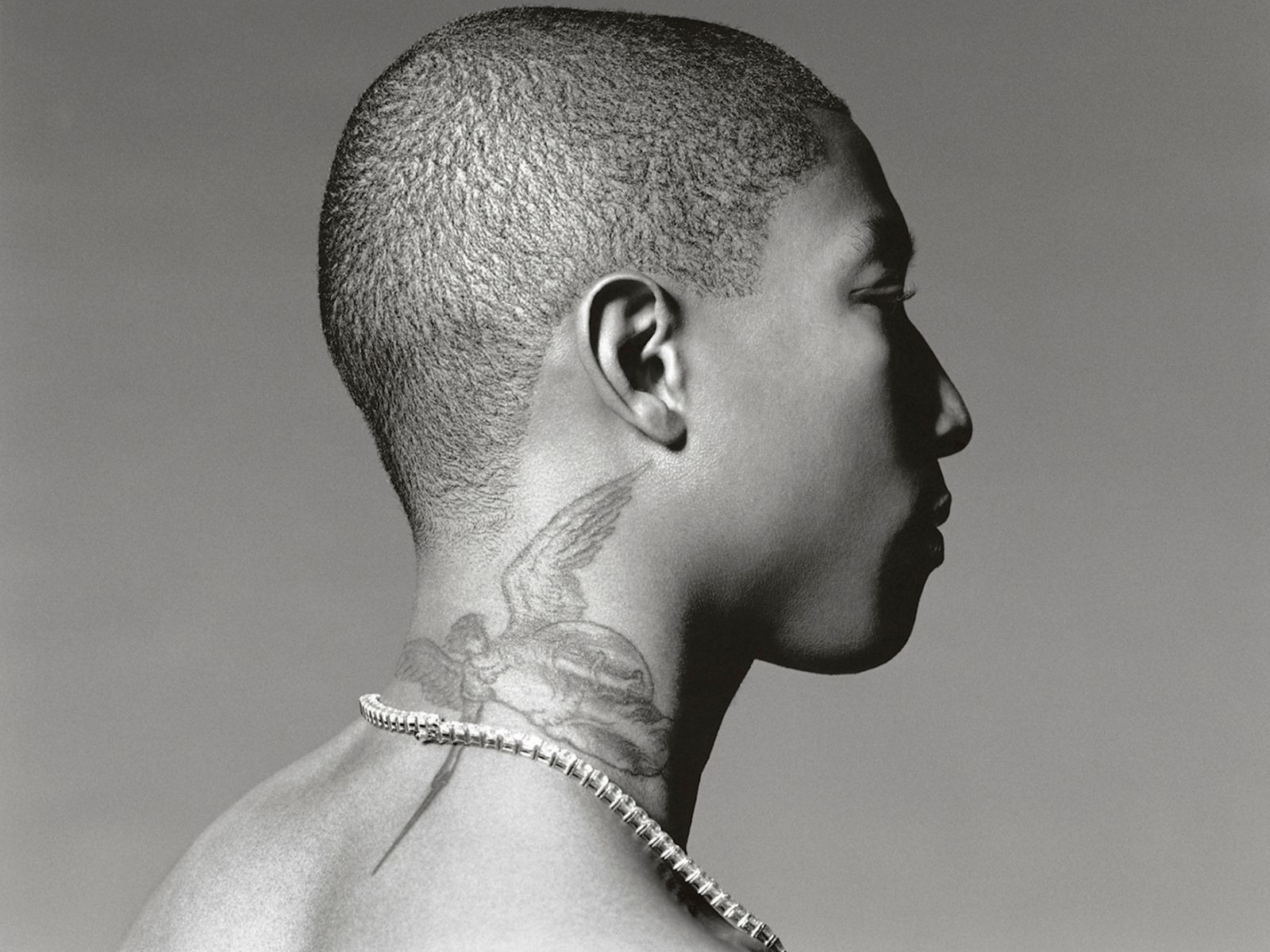Pharrell's neck tattoo looks good Tattoos Pinterest