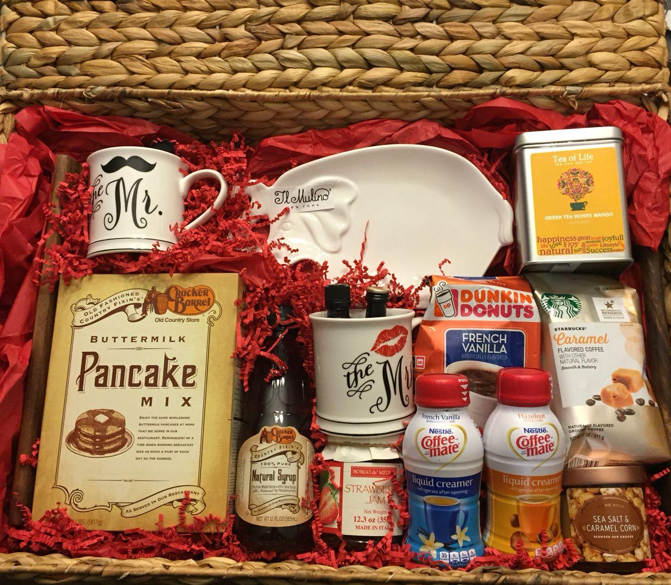 Breakfast in bed gift basket, I made for a Bridal Shower