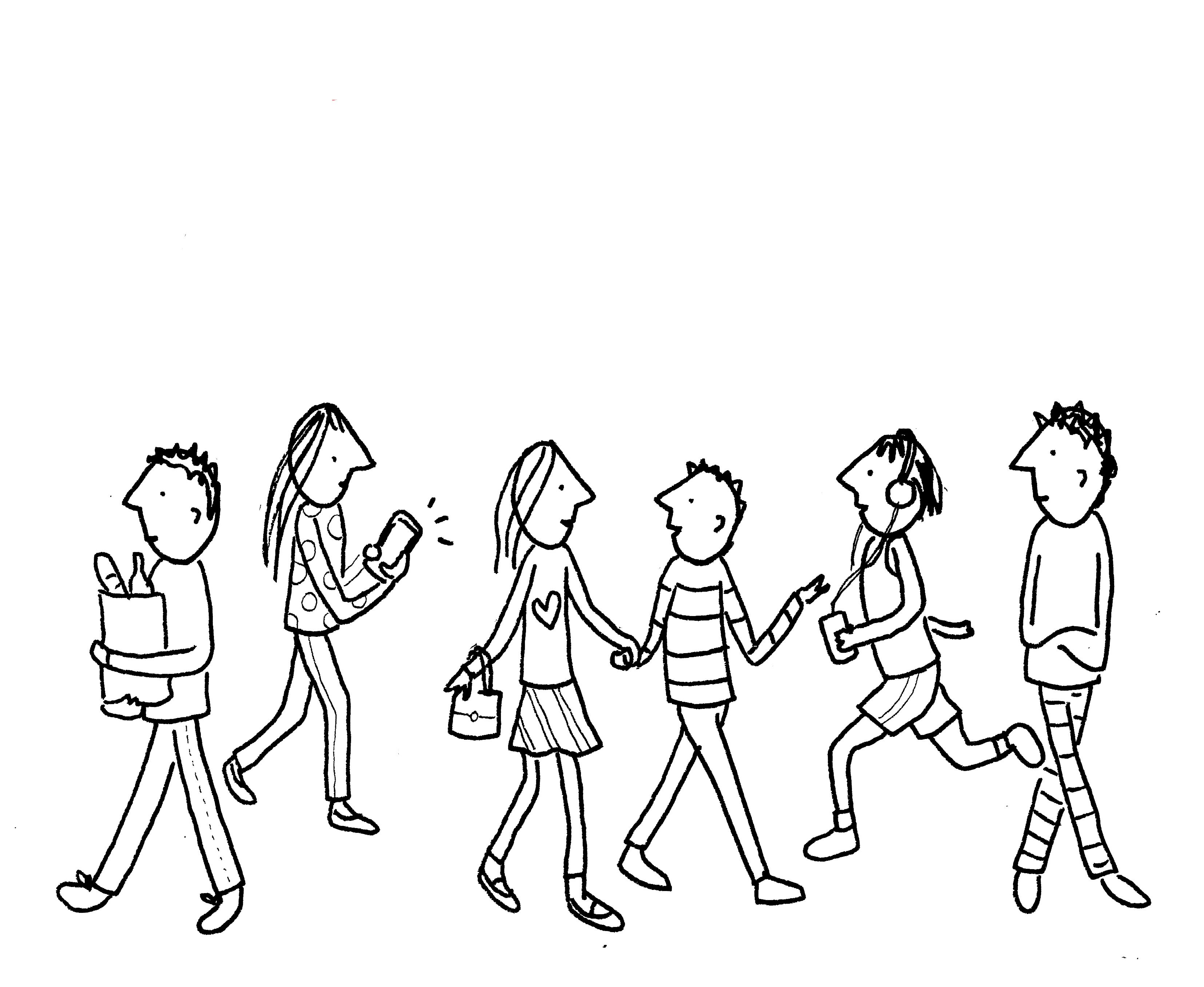 How To Draw A Crowd Of People In 3 Steps