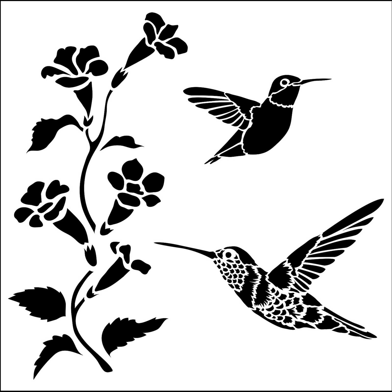 Stencil Kolibri