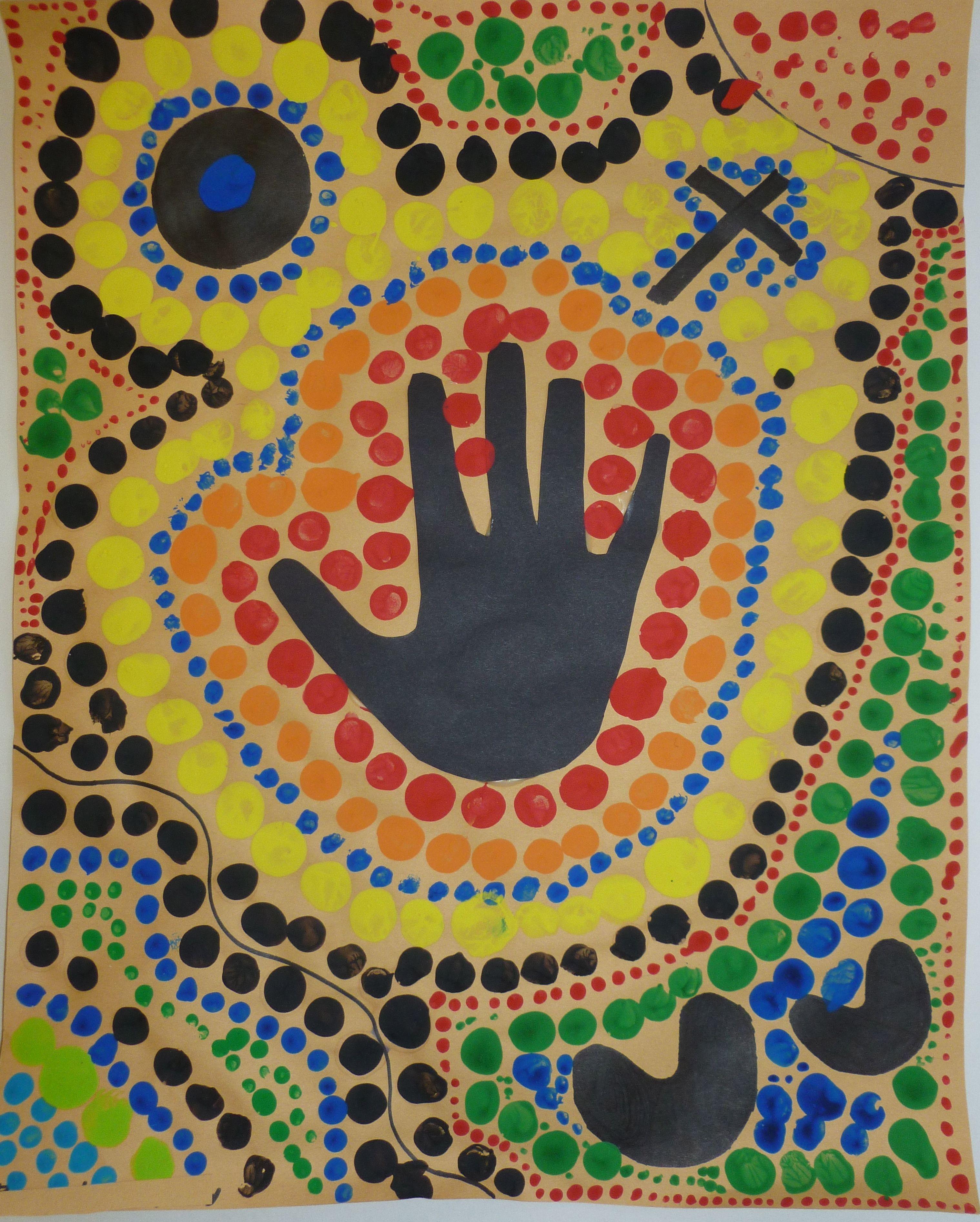 Ms Maggie Mo S Australian Aboriginal Hand Dot Painting