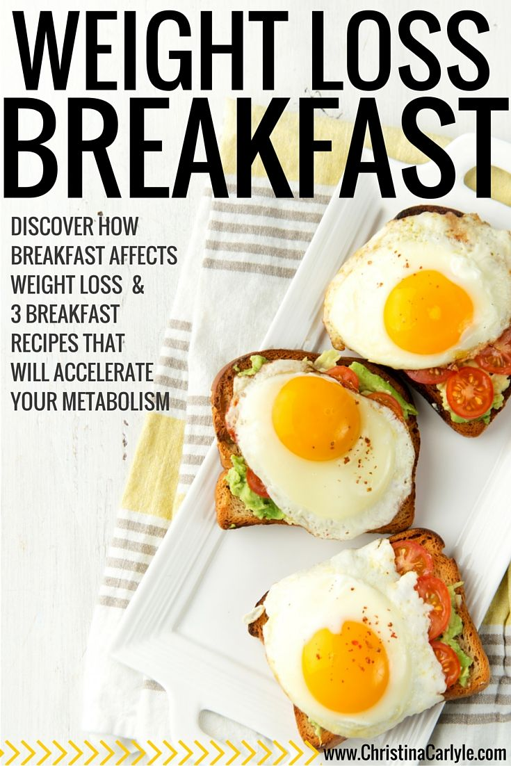 Discover how breakfast affects weight loss + 3 breakfast