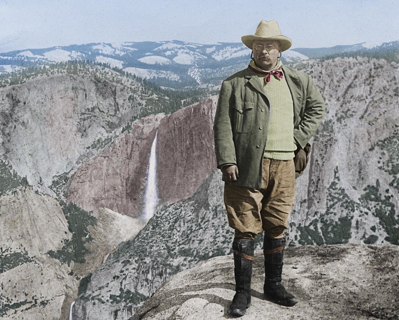 Theodore Roosevelt At Glacier Point Yosemite National Park