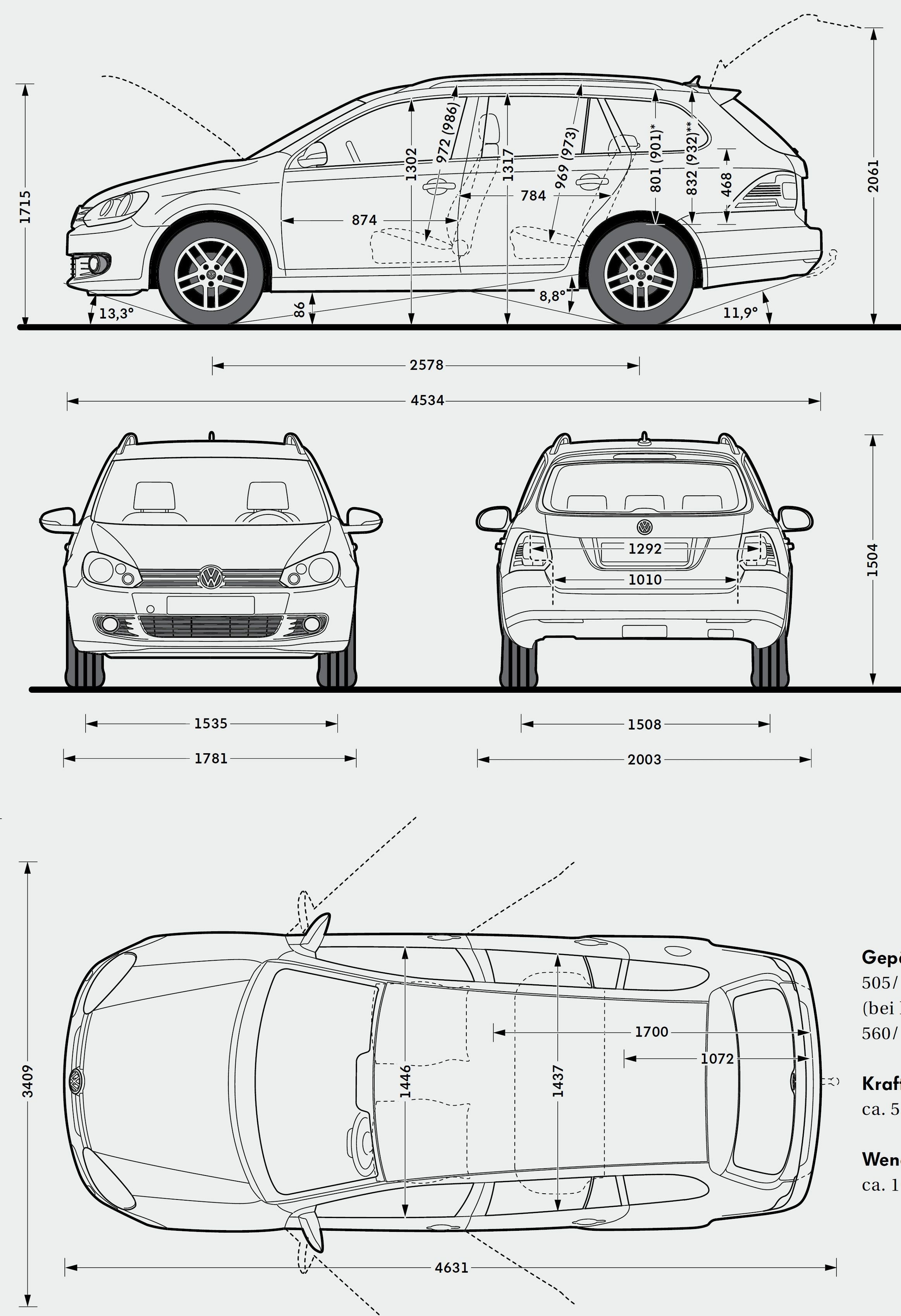 Volkswagen Golf Variant Model Sheet