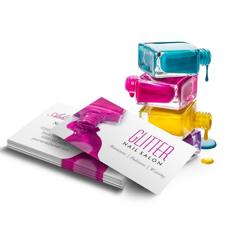 Glitter nail salon manicure pink beauty stylish business