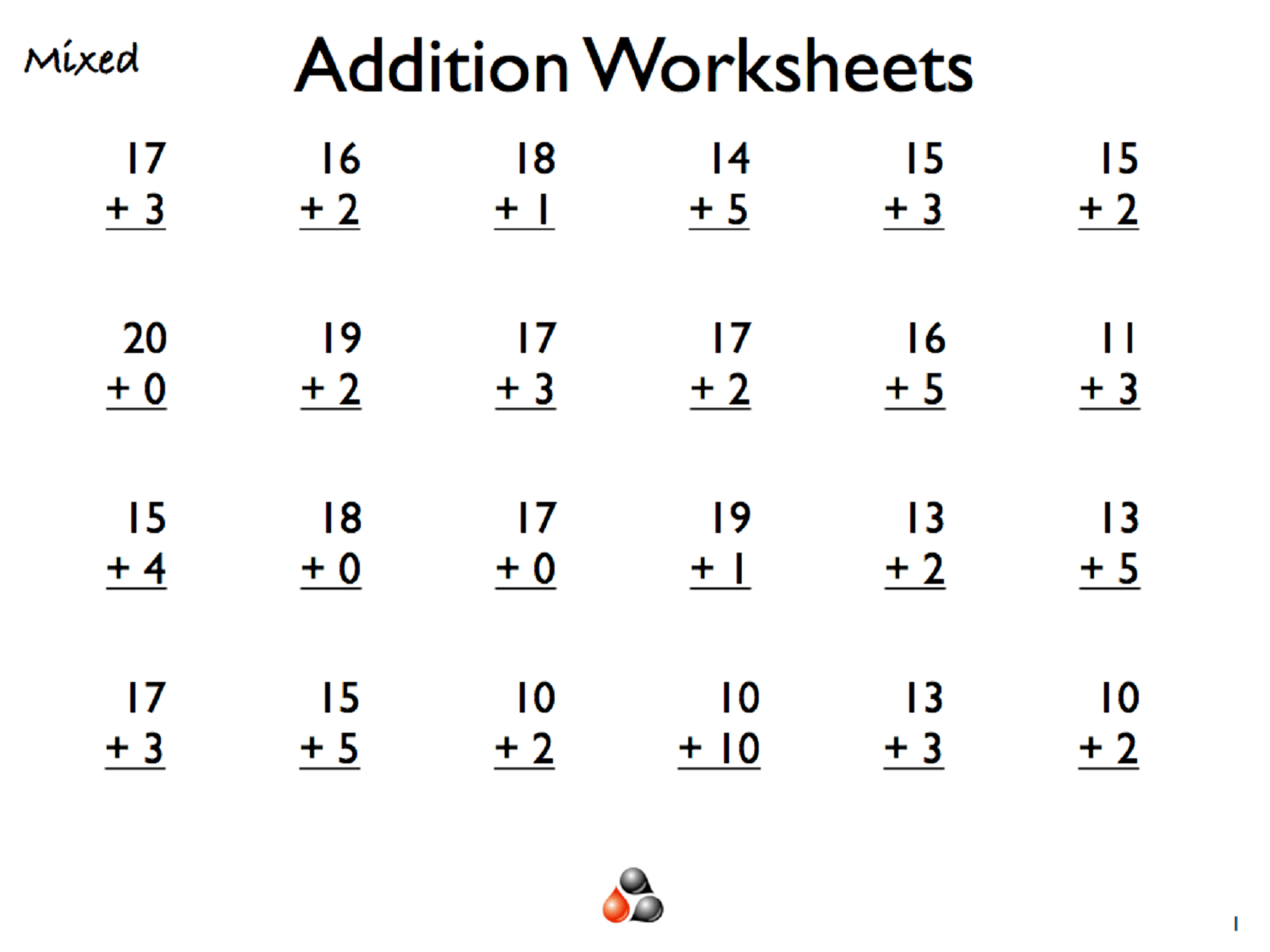 Addition For Worksheets For Grade 1 Is Helpful Educative Media