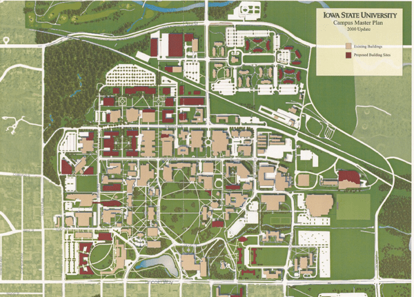 This is a map of Iowa State's University Campus. Iowa