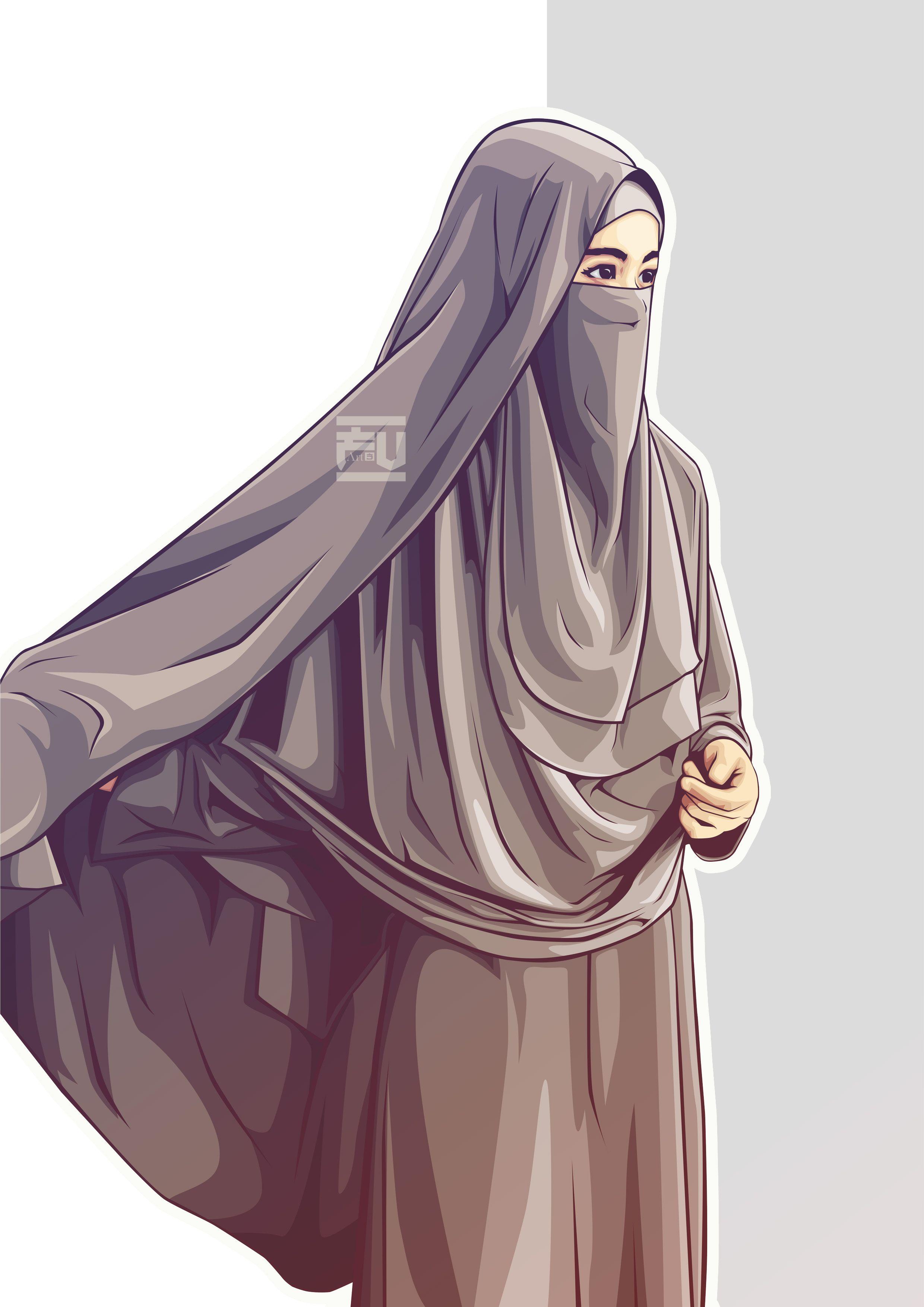 hijab vector niqab Hijab vector Pinterest Niqab