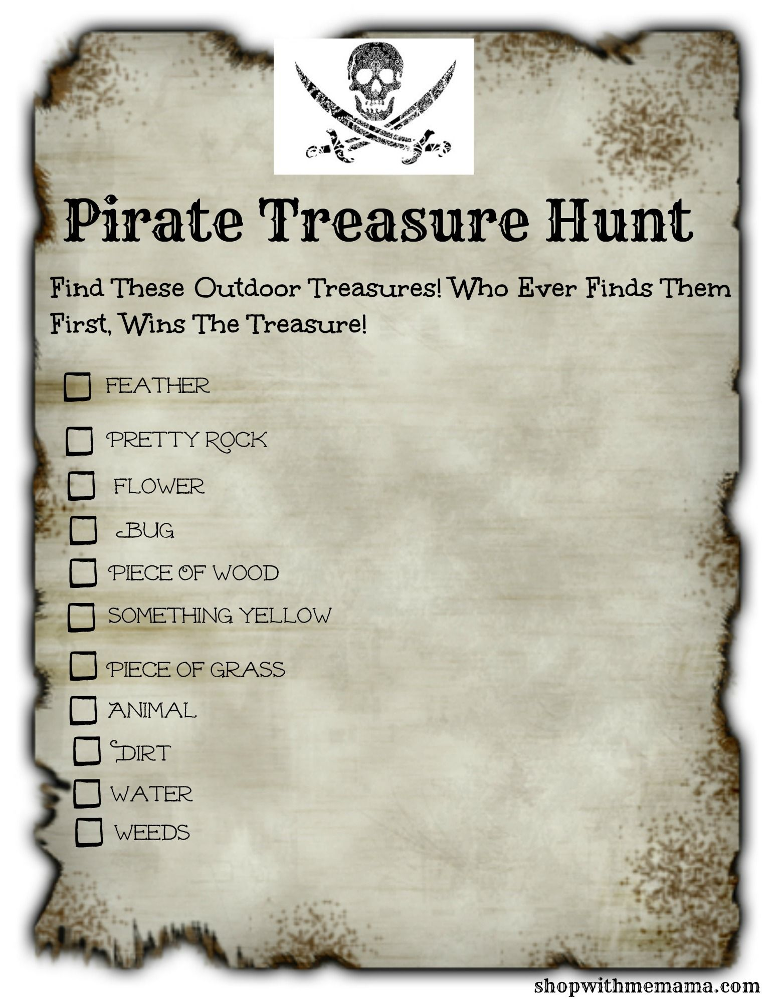 Kids Bored This Summer Print Out This Fun Pirate Treasure