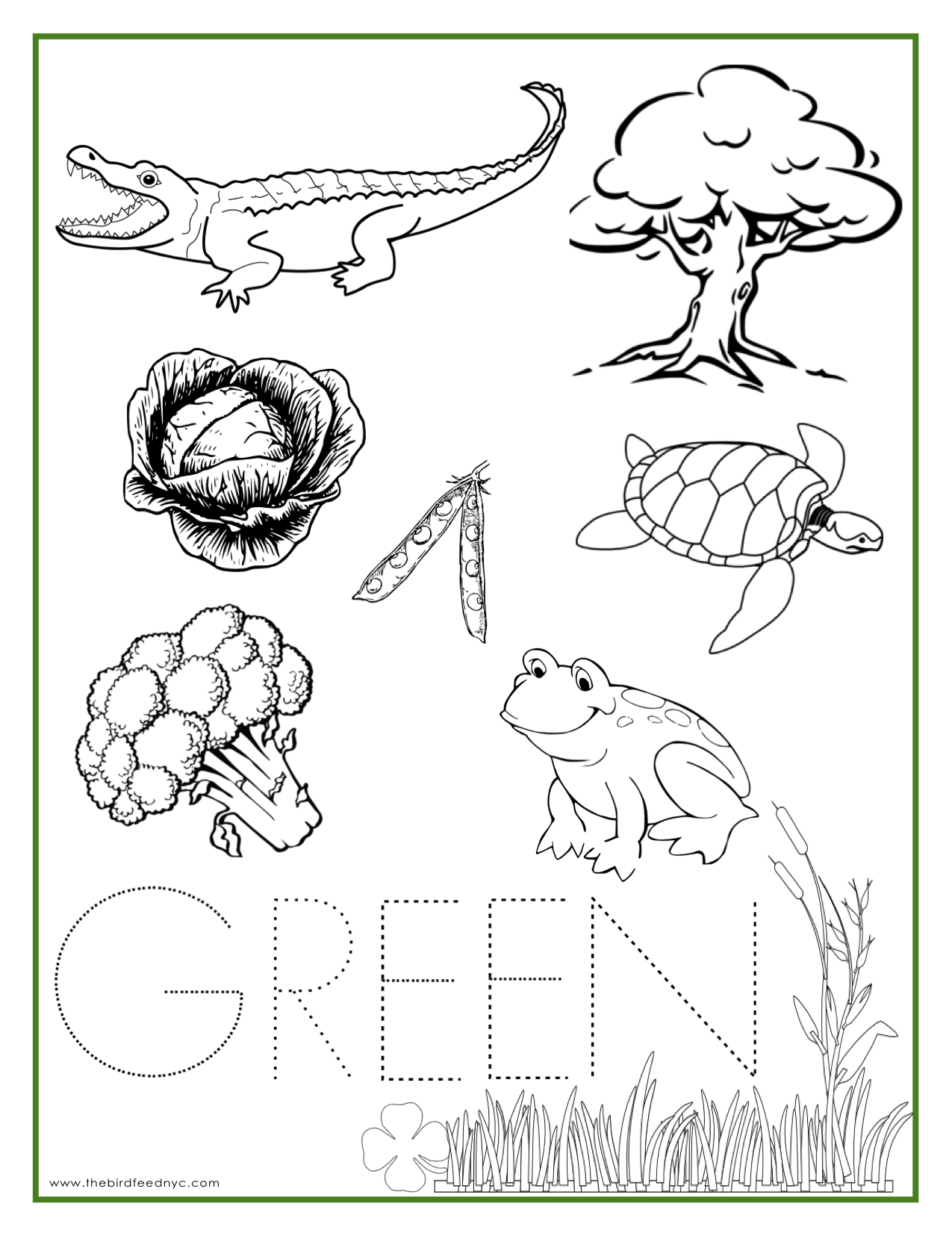 Green Coloring Pages
