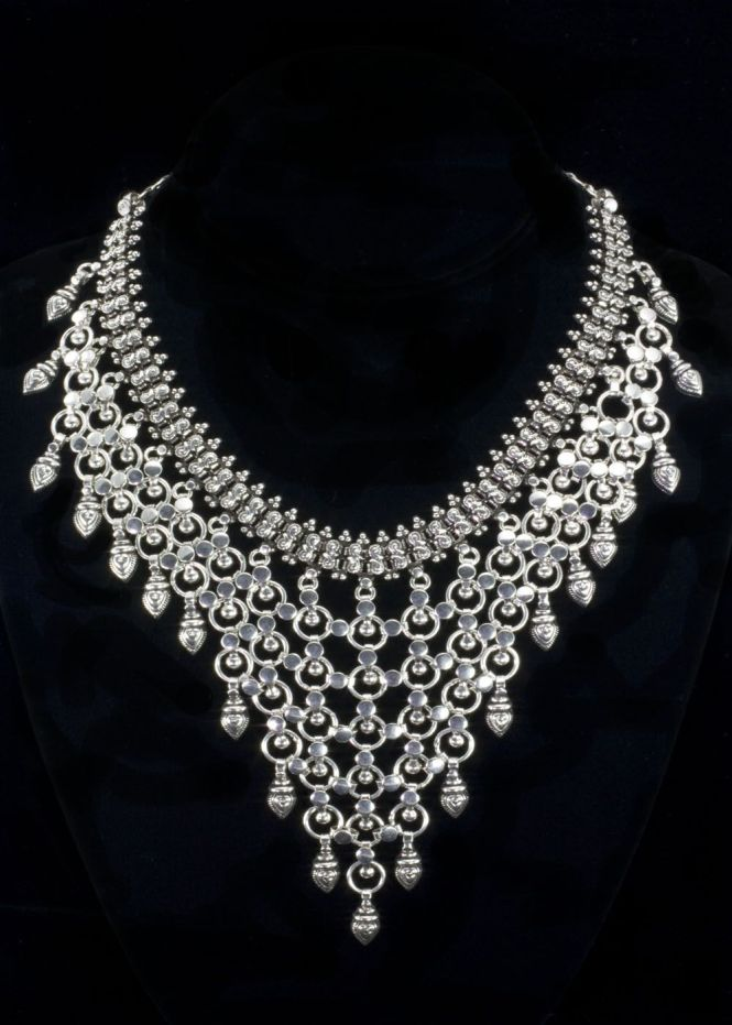 Sterling Chandelier Bib Necklace Beautiful Silver This Drips With Intricate
