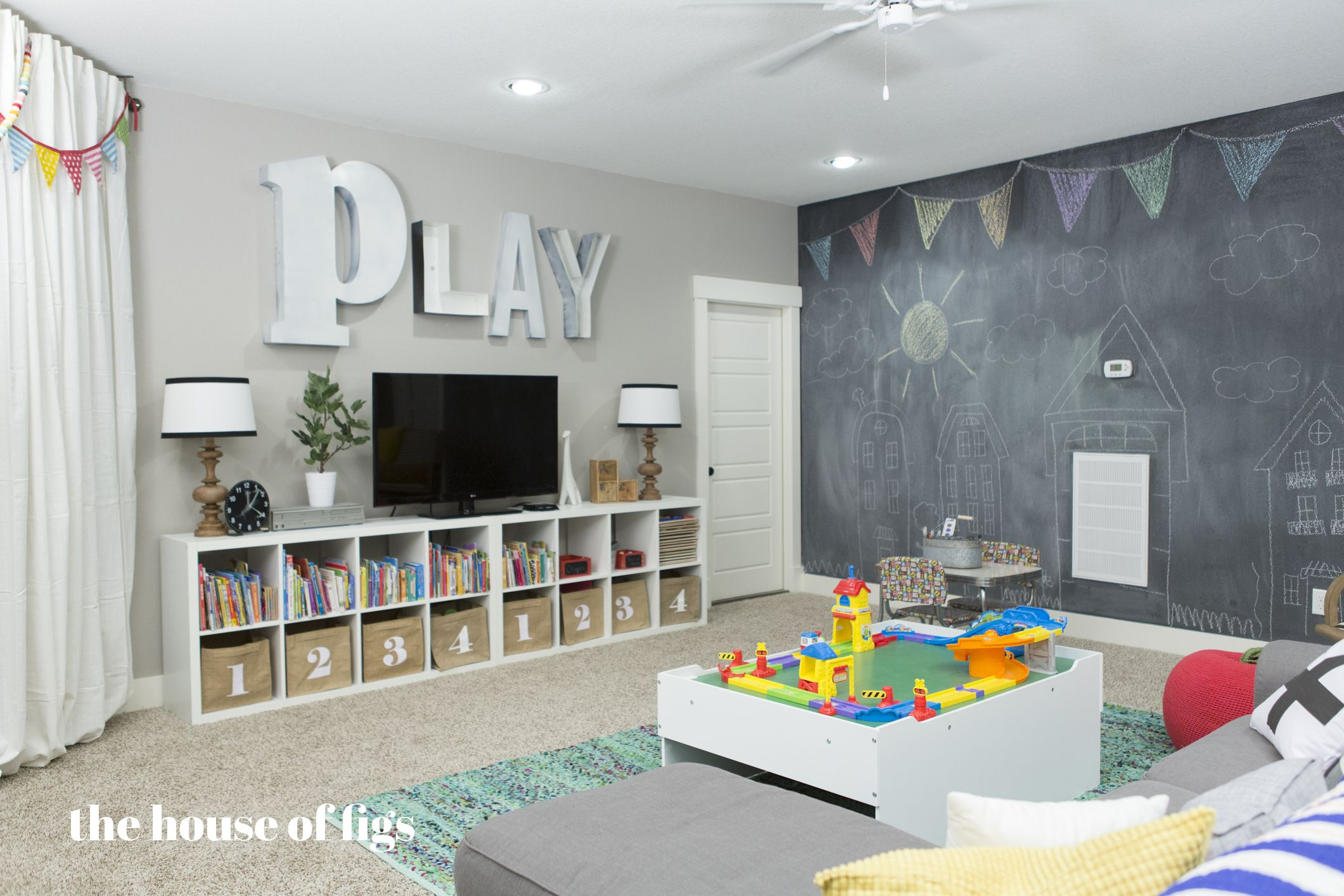 Playroom Chalk Wall, Stage // The House Of Figs
