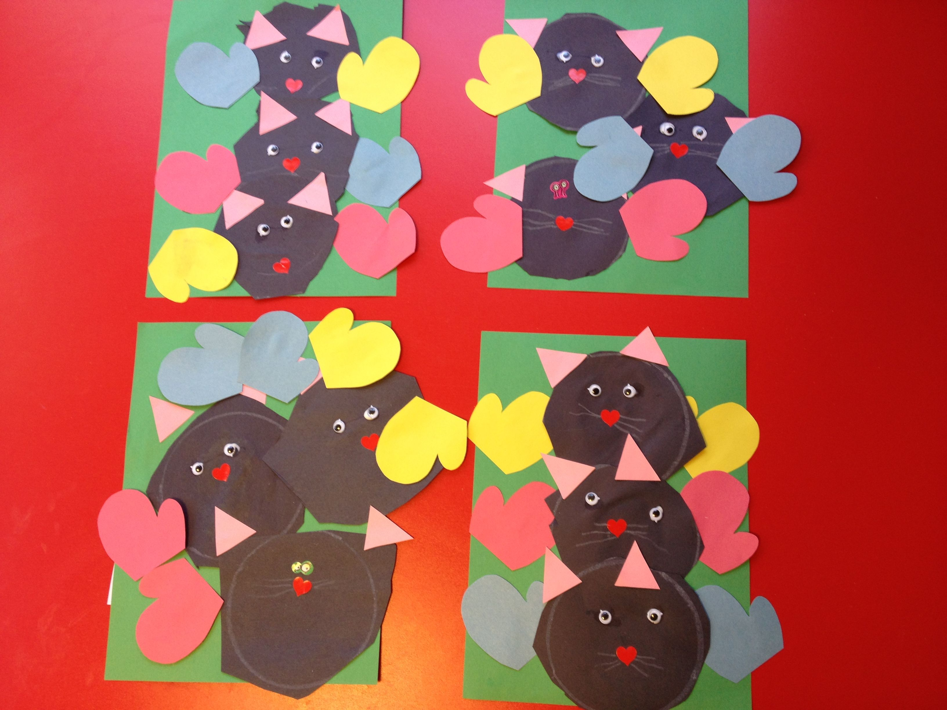 Three Little Kittens Child Cuts Out 3 Circles Add Eyes Nose And Ears Match Colored Mittens