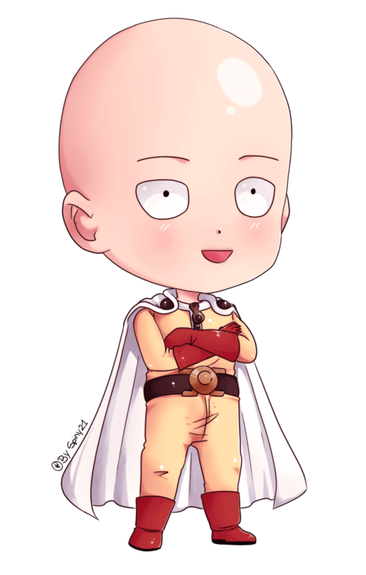 Saitama chibi by Spiny21Works one punch man Pinterest