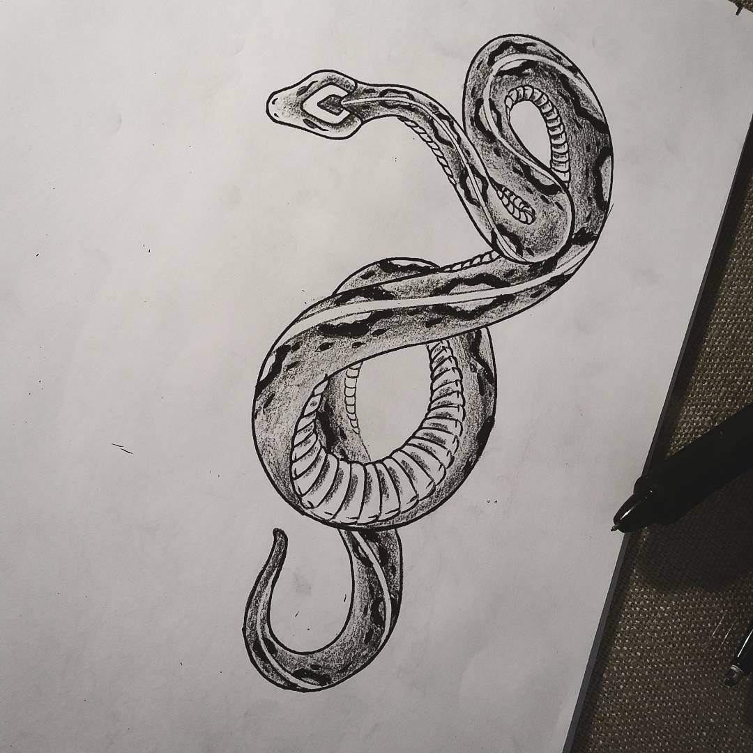 One small snake coming up! Posted at http//springtattoo
