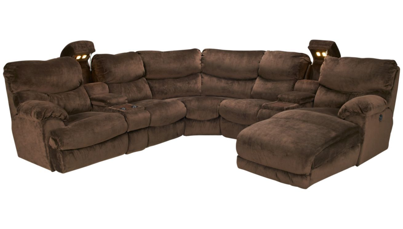 OMG Giant Comfy Sectional With Recliners And Hidden Cup