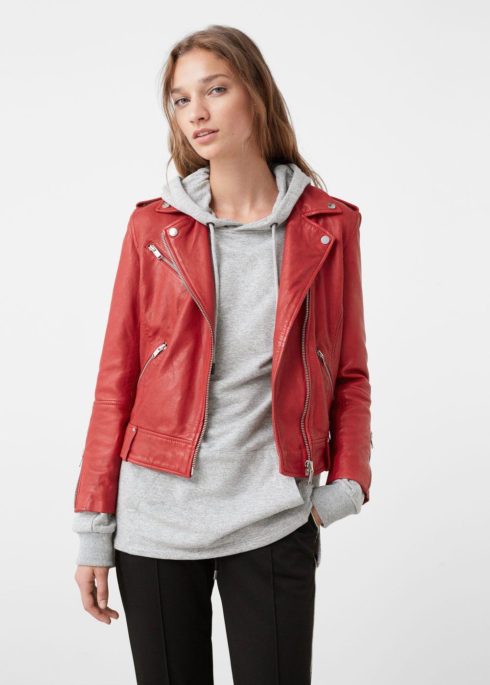 Leather biker jacket Women Leather biker jackets