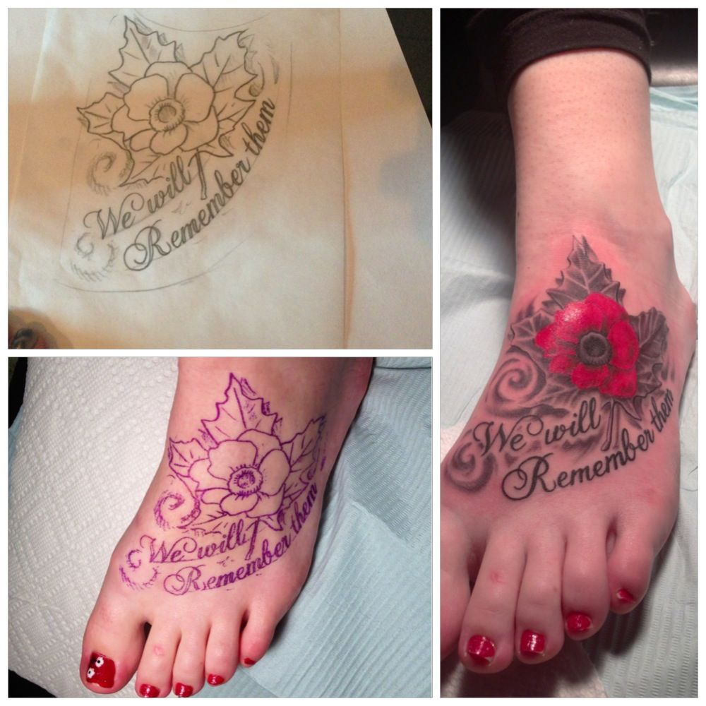 No outline/full color poppy Tattoos I Dig Pinterest