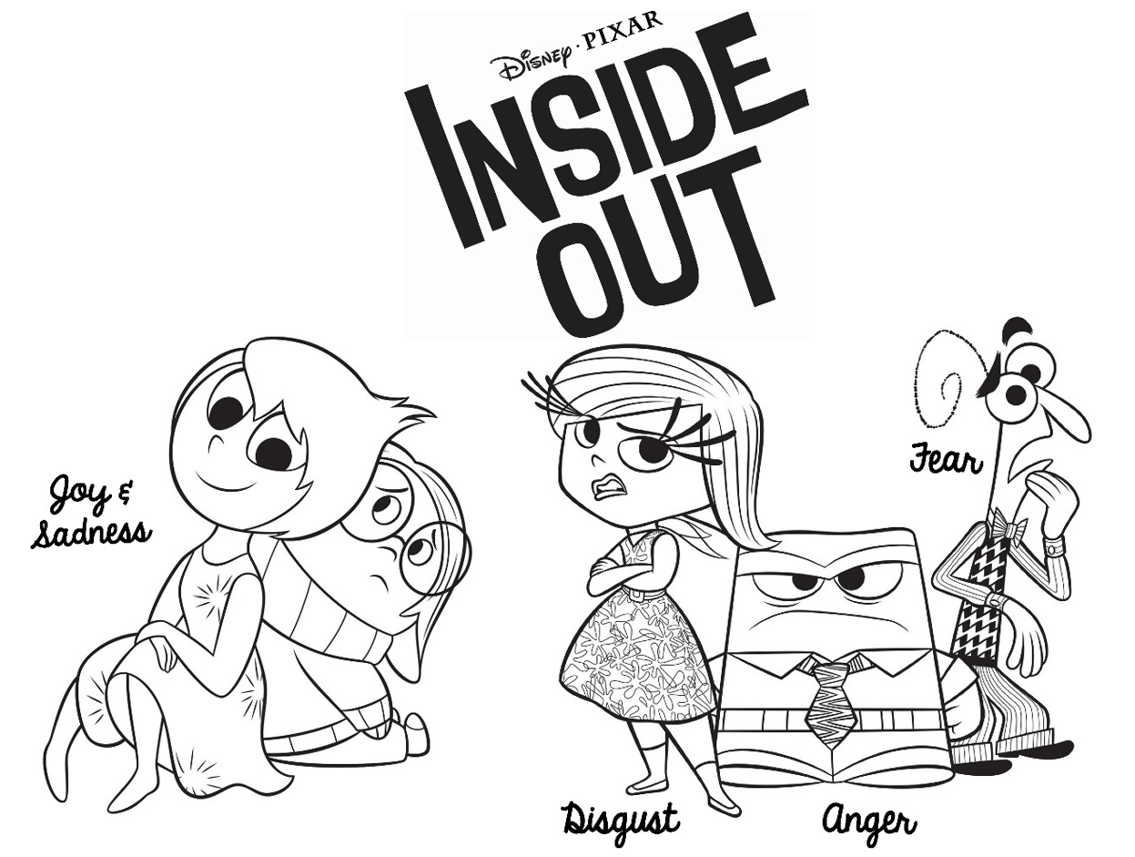 Fre Inside Out Coloring Pages