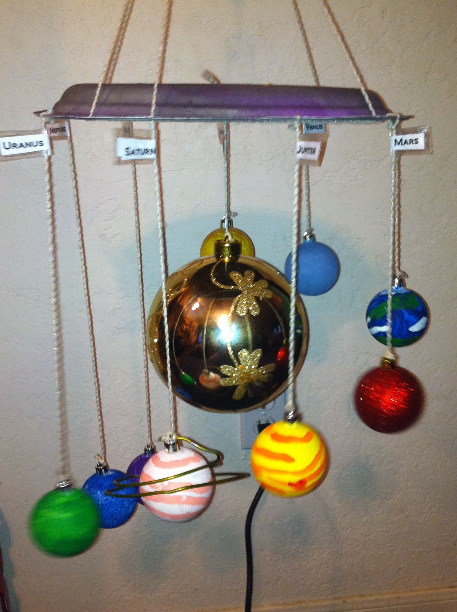 5th Grade Science Project Solar System Made Out Of