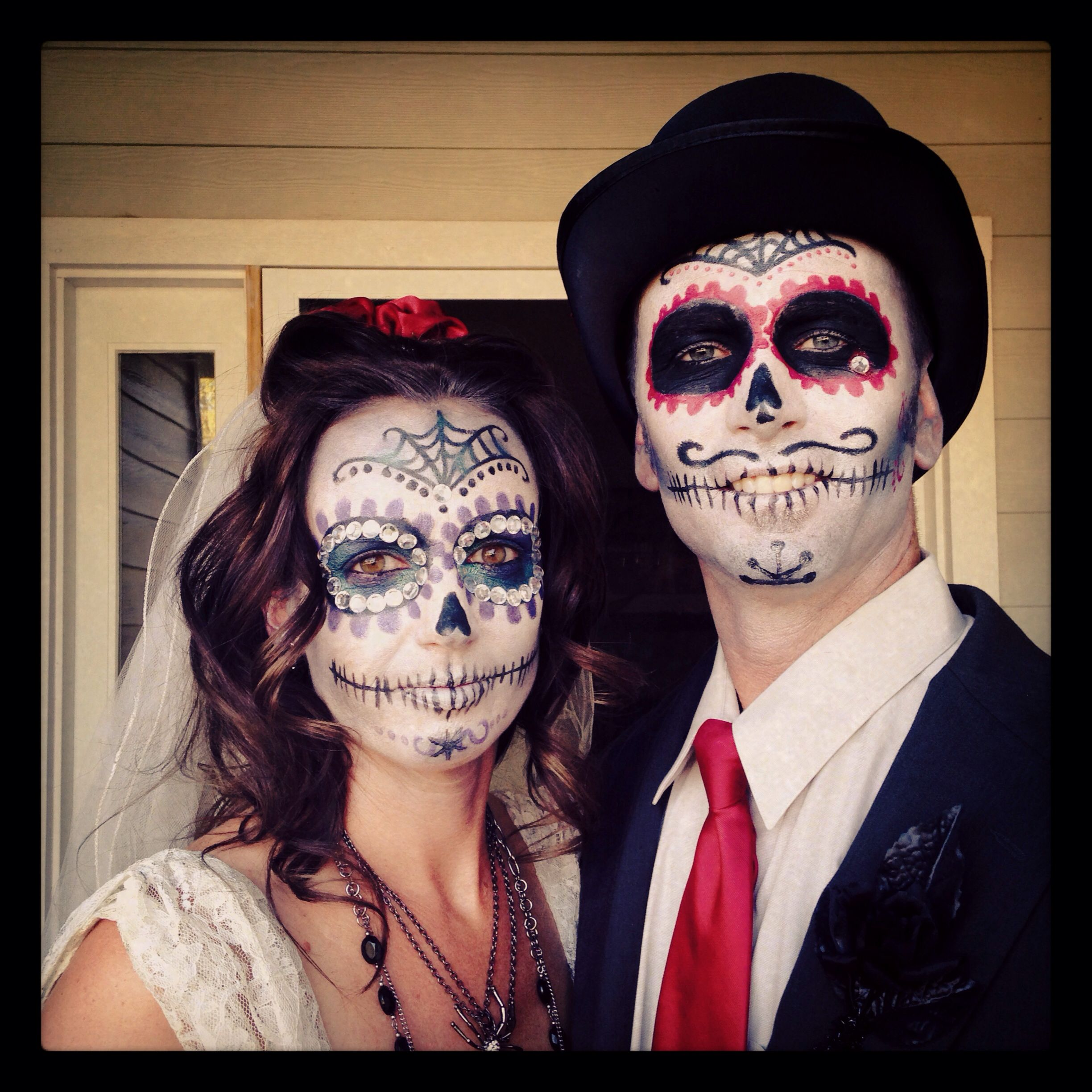 Day of the Dead Bride and Groom Halloween Costume make