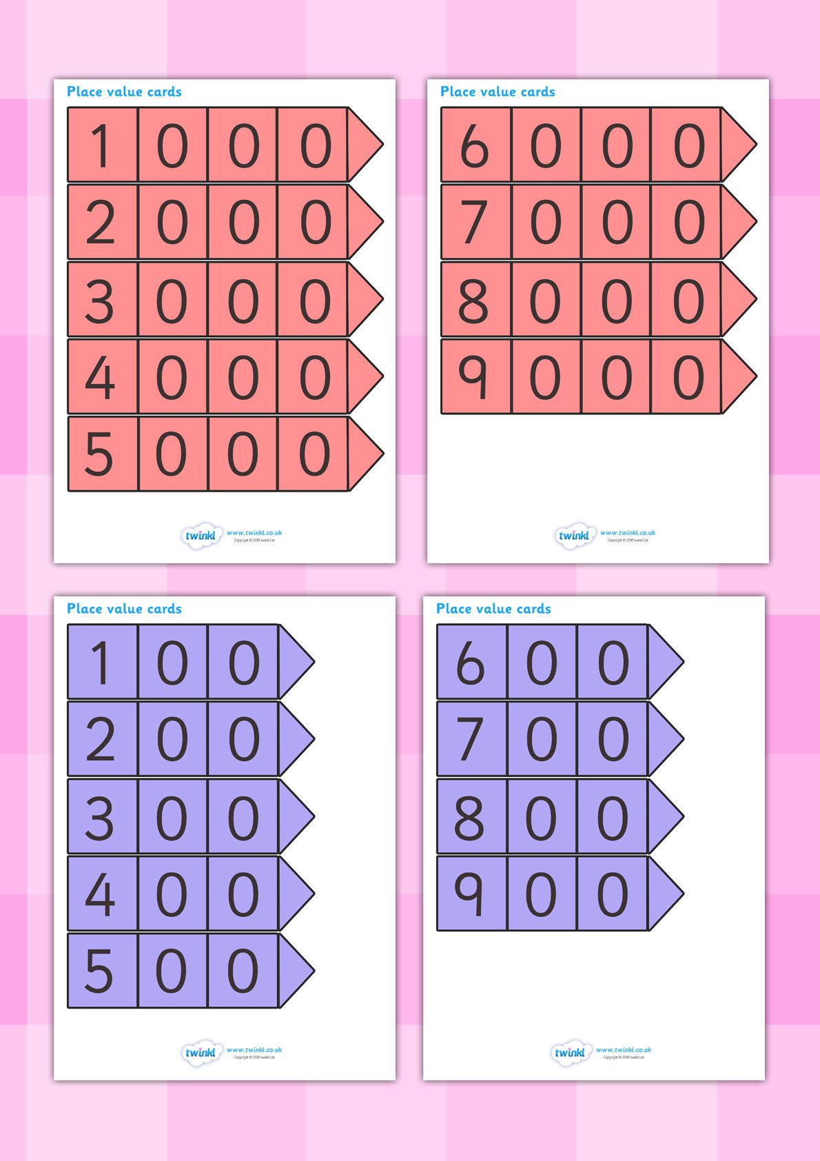 Twinkl Resources Gt Gt Place Value Arrow Cards Gt Gt Classroom