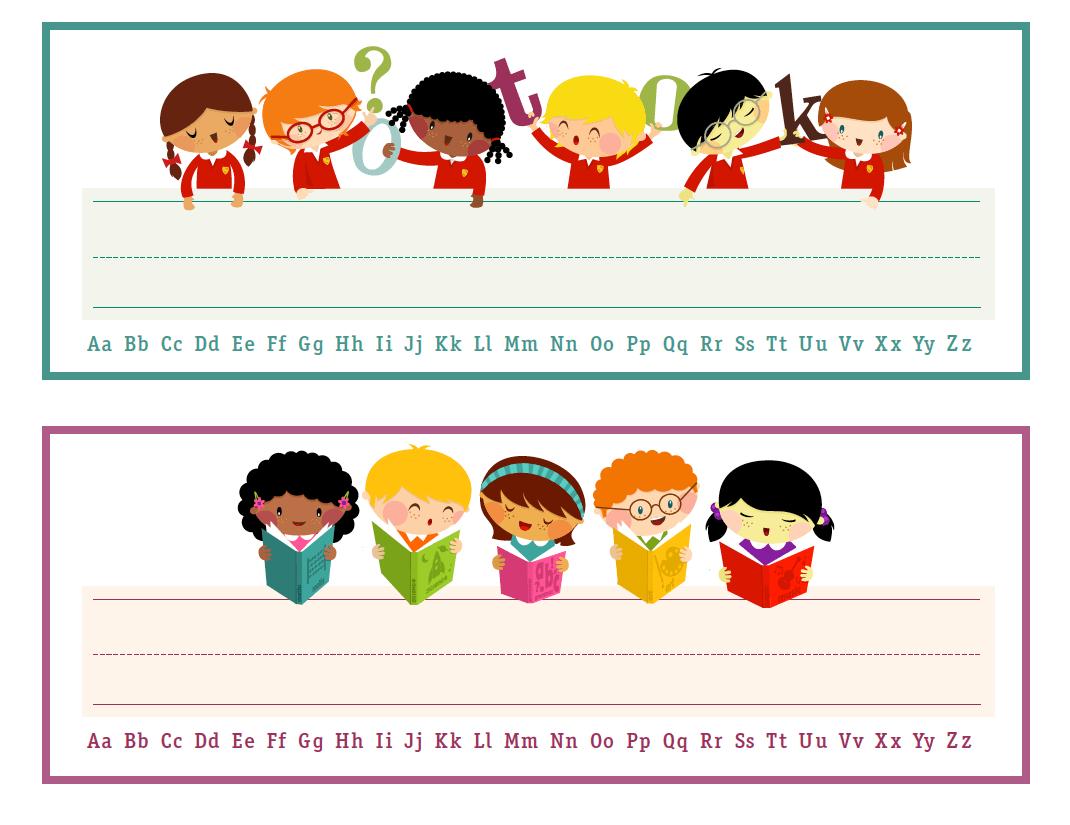 Printable Nameplates For Kids