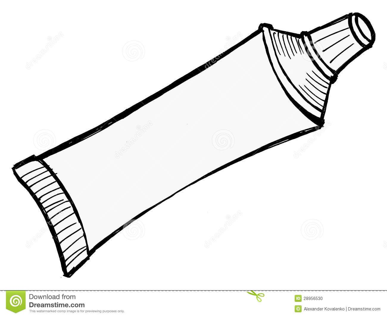 Illustration Of Tube Of Toothpaste And Other Paste New
