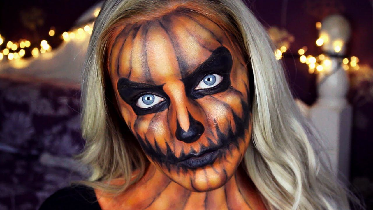 Halloween Pumpkin Makeup Tutorial Emily Alison fantasy