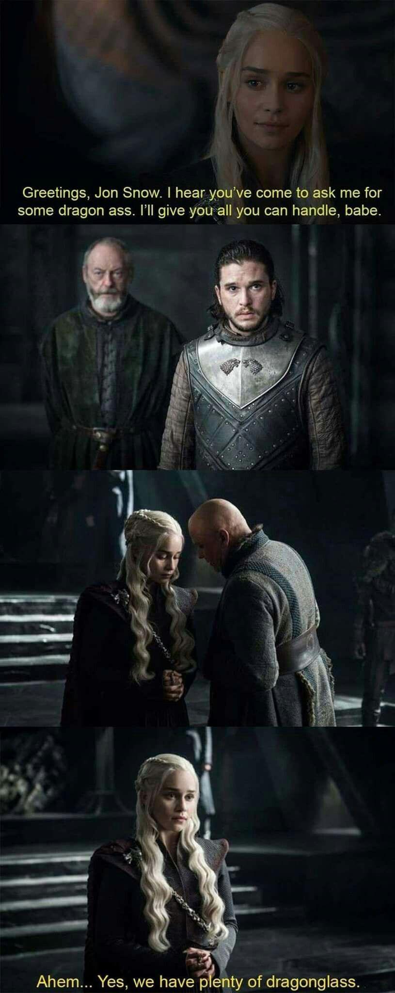 Game of thrones funny humour meme, season 7. Jon Snow