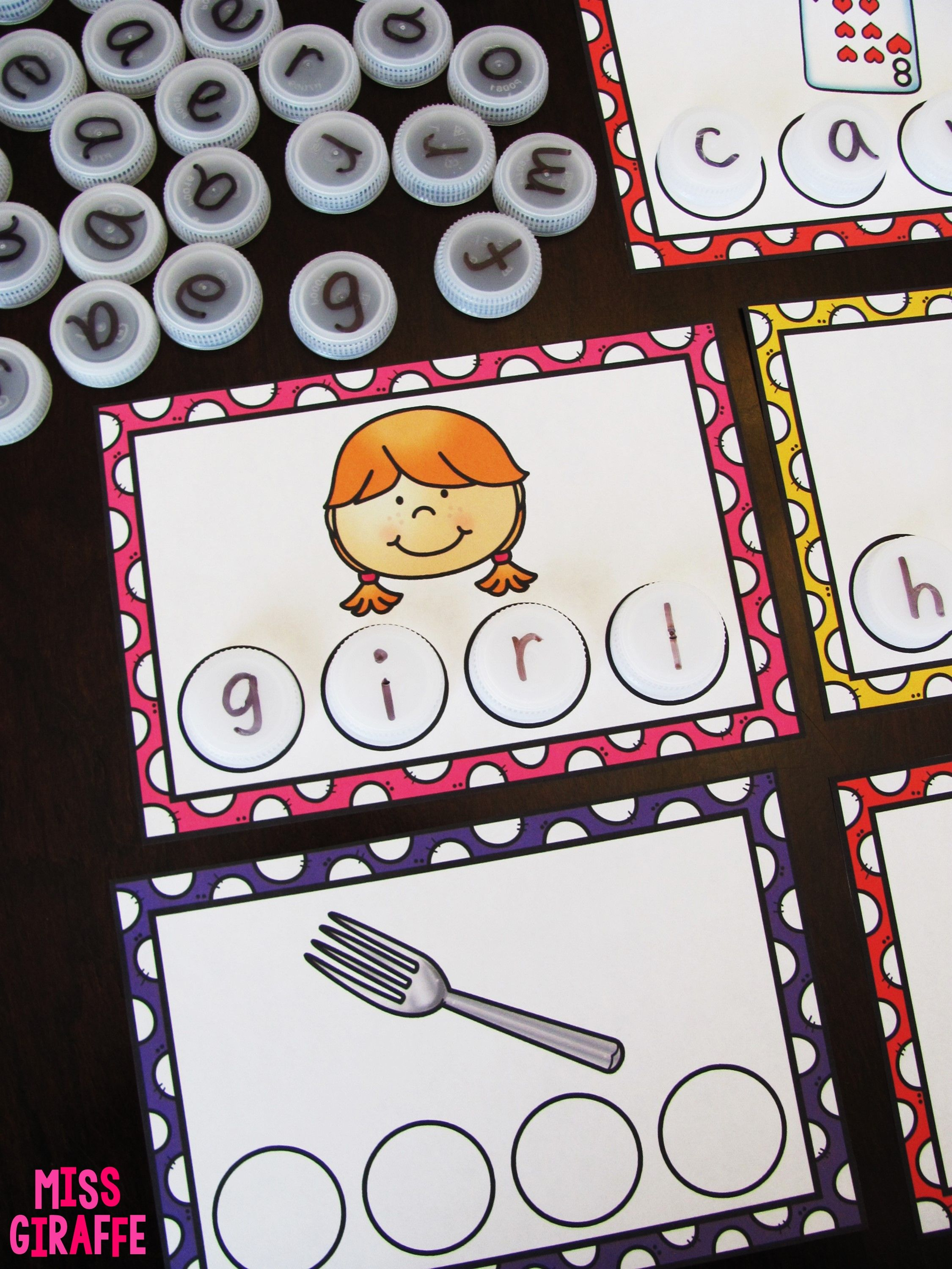 Bossy R Words Bottle Cap Centers To Make R Controlled
